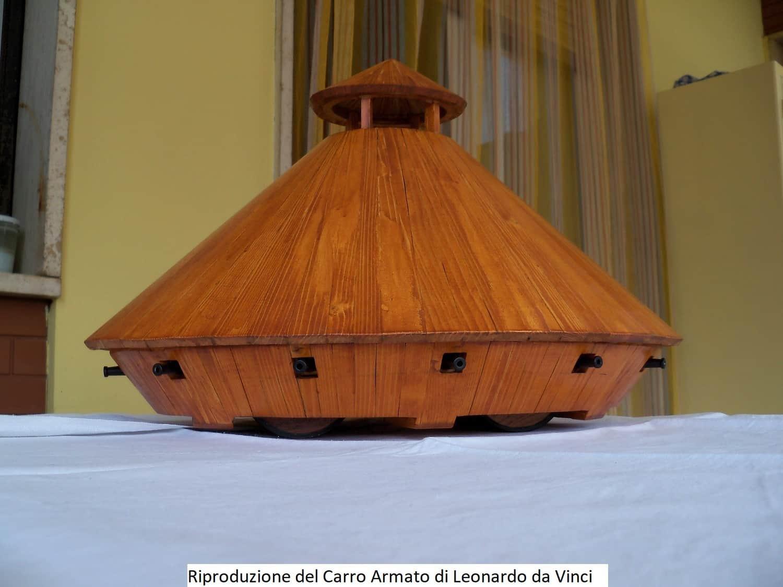 Riproduzione del Carro Armato di Leonardo da Vinci