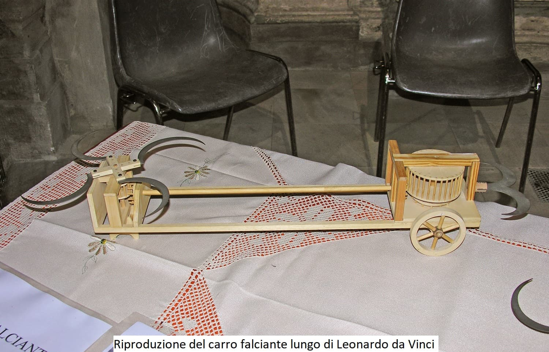 Riproduzione del Carro Falciante Lungo di Leonardo da Vinci