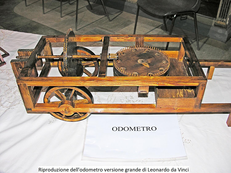 Riproduzione dell'Odometro versione grande di Leonardo da Vinci