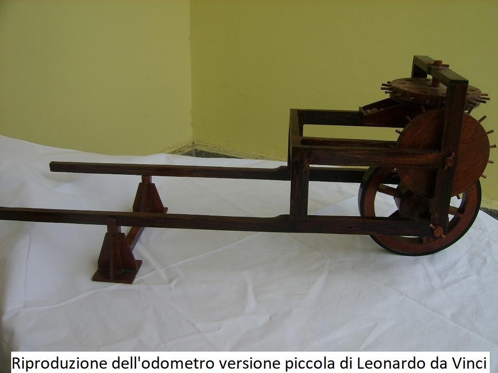 Riproduzione dell' Odometro versione piccola di Leonardo Da Vinci