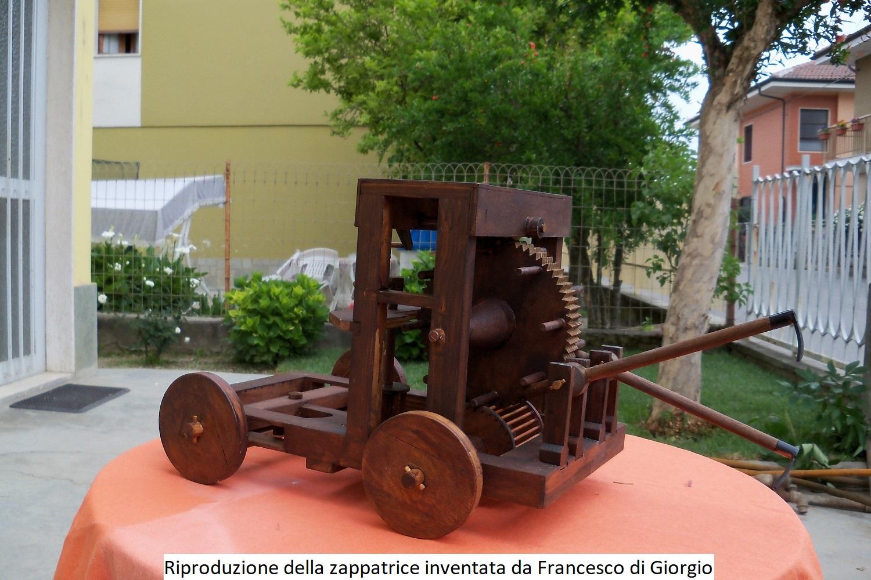 Riproduzione della Zappatrice inventata da Francesco di Giorgio